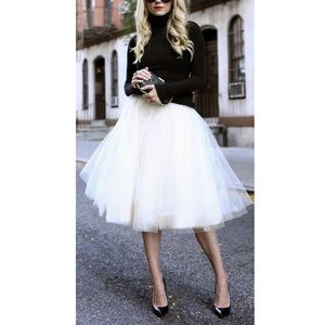 Windsor White Tulle Tutu Knee Skirt